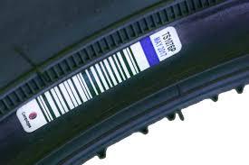 vulcanised tire label
